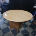 "Blonde Round 36"" Simo Meeting Table w/ Wood Cross Base"