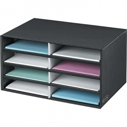 Bankers Box Paper Eight Compartment Literature Mail Sorter