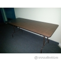 5 ft Folding Banquet Table, Wood w Steel Frame