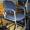 Blue Fabric Guest Chair w/ Grey Sleigh Frame