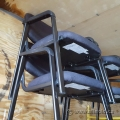 Blue Fabric Stacking Guest Chair w/ Fixed Arms