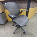 "Herman Miller Aeron ""B Size"" Black All Mesh Ergonomic Task Chair"