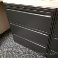 Black Steelcase 3 Drawer Lateral File Cabinet