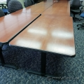 Wood Colour Training Table w/ Black Post Legs