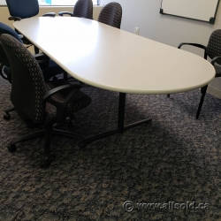Off White Surface 9' Boardroom Table
