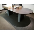 Espresso Boardroom Table 8' Racetrack