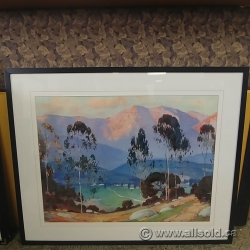 "Alfred Mitchell Framed Wall Art ""California Sunset Glow"""