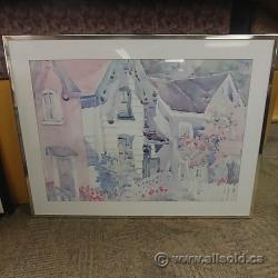 "Framed Wall Art ""Town Houses"""