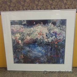 "Framed Wall Art ""Pond of Flowers"""