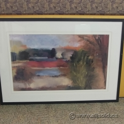"Susan Sculley Framed Wall Art ""Stormy Sky"""
