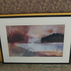 "Susan Sculley Framed Wall Art ""Autumn Lake"""