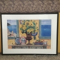 "Sarina Framed Wall Art ""Sunflowers & Positano View"""