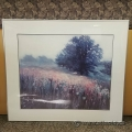 "Framed Wall Art ""A Field with a Tree"""