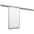 Sliding Whiteboard Wall Mount Rack w/ Whiteboards