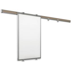 Sliding Whiteboard Wall Mount Rack w/ Whiteboards