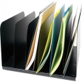 SteelMaster Steel Sorters, Vertical Black Metal Paper Sorter