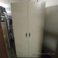 Beige 2 Door Storage Cabinet