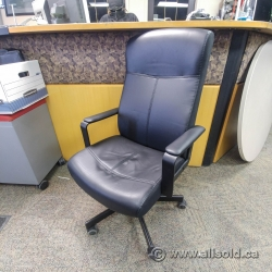 Black IKEA Malkolm Swivel Office Chair