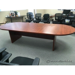 Autumn Maple 9ft Racetrack Boardroom Table