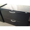 Black Grand and Toy 2 Drawer Lateral File Cabinet