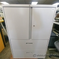 Off White Steelcase 2 Door 2 Drawer Storage Cabinet
