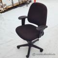 Black Fabric Mid Back Adjustable Office Task Chair