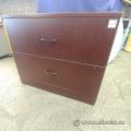 Cherry Wood 2 Drawer Lateral File Storage Cabinet