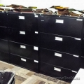 Black Staples 4 Drawer Lateral File Cabinet