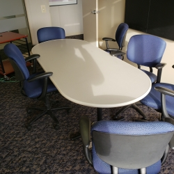 Off White Surface 8' Boardroom Table
