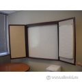 Cherry Wood 2 Door Enclosed Egan White Board