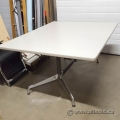 Off White Work Meeting Table with Chrome Legs