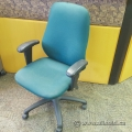 Green Fabric Mid Back Office Task Chair