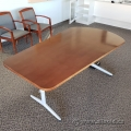 "Maple Tapered Work / Meeting / Break Room Table 72"" x 30 - 40"""