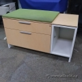 Herman Miller 2 Drawer Cabinet with Cubby Space and Fabric Top