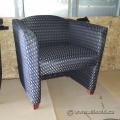 Checker Board Pattern Fabric Sofa Arm Chair