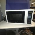 White Sanyo 800-Watt Countertop Microwave Oven