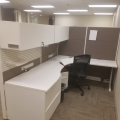 Teknion Systems Furniture White Grey Workstations Cubicles