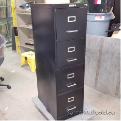 Black Commodore 4 Drawer Vertical File Cabinet