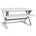 White Sit/Stand Desktop Riser