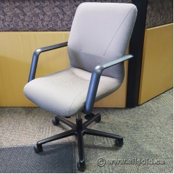 Keilahuer Brown Office Task Chair with Fixed Arms