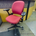 Red Steelcase Leap Adjustable Ergonomic Task Chair w Arms