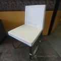 White Leather Chair w/ HD Chrome Base