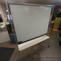 Rolling Double Sided Magnetic Whiteboard Planning Board w/ Tray