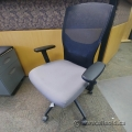 Grey Fabric Seat Mesh Back Office Task Chair