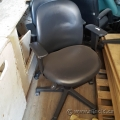 Black Leather Mid Back Adjustable Office Chair