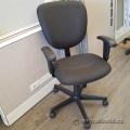 Global Trakker Black Pattern Fabric Adjustable Office Task Chair