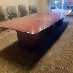 14ft Mahogany 4 Pc  Boardroom Conference Table