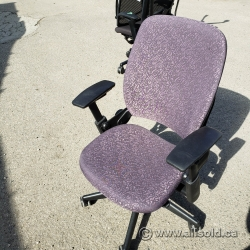 Steelcase Leap V2 Mauve Thin Leaf Pattern Ergonomic Task Chair