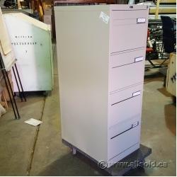 Beige Global 4 Drawer Vertical File Cabinet