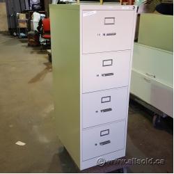 Beige Hon 4 Drawer Vertical File Cabinet